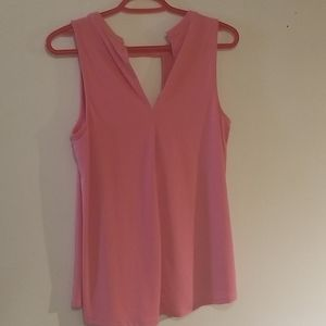 Barbie pink sleeveless top